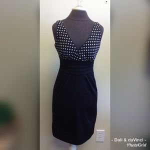 Maurice's Sleeveless Black/White Polka Dot Dress